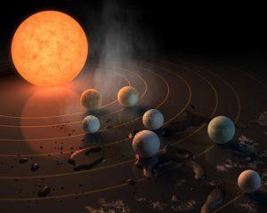 Nasa descobre sistema com 7 planetas parecidos com a Terra
