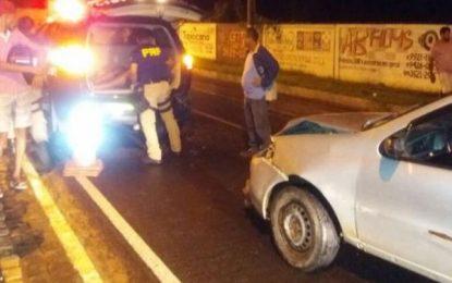 Condutor alcoolizado atropela pedestre e bate em viatura da PRF em Floriano