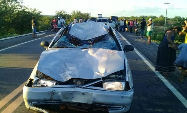 Casal morre após grave acidente na BR-407 próximo de Acauã