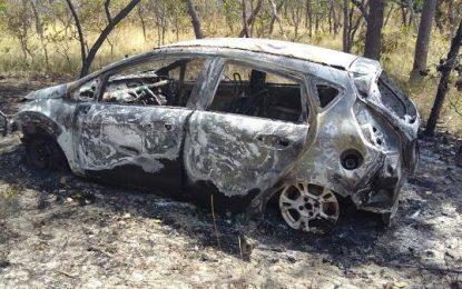 Automóvel carbonizado é encontrado em rodovia que liga Floriano a Jerumenha