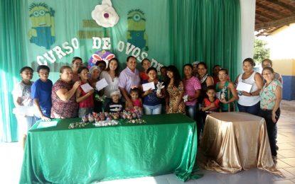Assistência Social de Marcos Parente realiza curso de fabricação de ovos de Páscoa