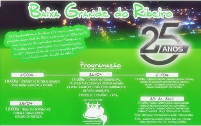 Prefeitura de Baixa Grande divulga programção de aniversario da icdade