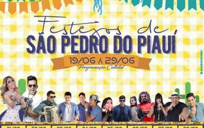 Prefeitura divulga a programação dos festejos de São Pedro do Piauí