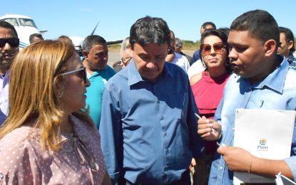 Governador Wellington Dias é recebido em Guadalupe pela prefeita Neidinha Lima