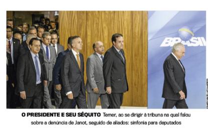 Registro: Júlio César seguiu Michel Temer no discurso contra a PGR