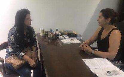 Aldara Pinto esteve na Seinfra tratando de obras para Jerumenha