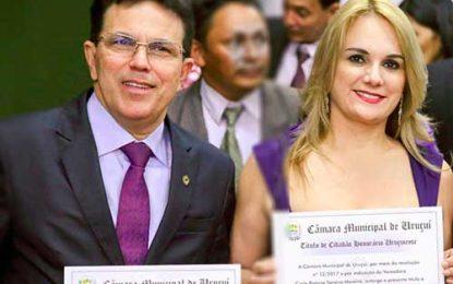 Zé Santana e Ana Paula recebem título de cidadãos uruçuienses