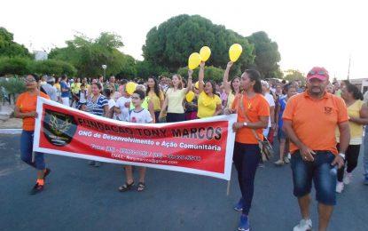 ONG Tony Marcos faz caminhada pela prevenção ao suicídio no Setembro Amarelo