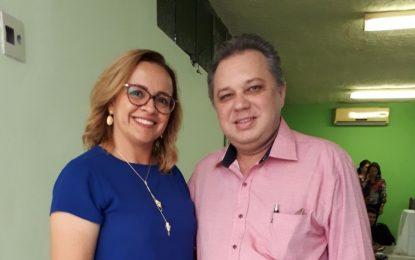 Secretária de Saúde de Marcos Parente participa de capacitação com a presença do Secretário Estadual da Saúde