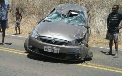 Casal de idosos se envolvem em acidente na zona rural de Floriano