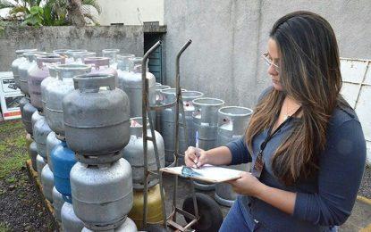 MP investiga estabelecimentos por venda ilegal de gás de cozinha em Guadalupe