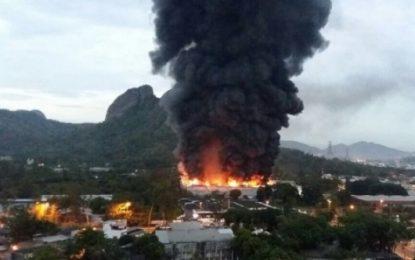 Incêndio atinge galpão de novela dentro de estúdio da Rede Globo