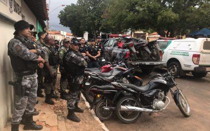 Policias apreendem mais de 20 motos roubadas em Sebastião Leal no Piaui