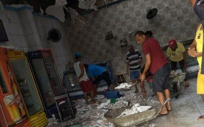 Chuva de granizo causa destruição em Campo Maior