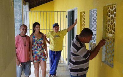Prefeita de Jerumenha faz visita em reforma da escola Vicente Fonseca