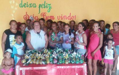 Mães do Bolsa Família de Marcos Parente participam de oficina na confecção de ovos de páscoa