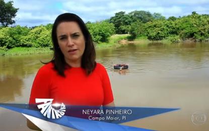 PASSOU NA TV: Fantástico mostra crianças atravessando rio em boias para chegar à escola em Campo Maior; veja o vídeo.