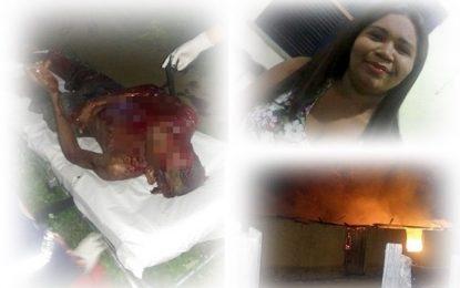 Guadalupense esfaqueia marido, ateia fogo na casa e morre carbonizada