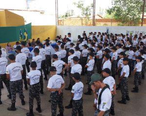 Projeto Pelotão Mirim realiza aula inaugural em Cocal