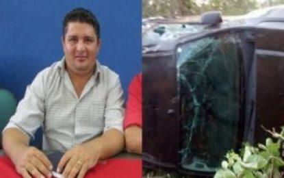 Vereador de município do Piauí sofre acidente de carro na Zona Rural de Oeiras