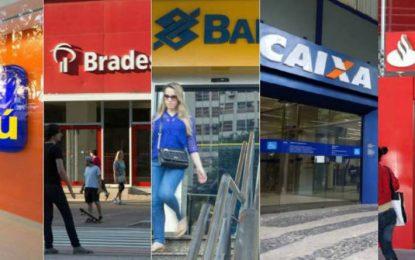 Bancos fecham no feriado e abrem normalmente na sexta-feira