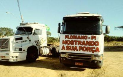 Caminhoneiros iniciam protestos em Floriano