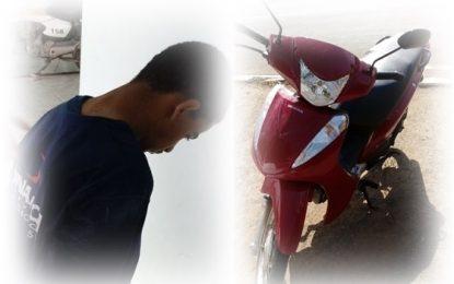 Moto roubada é recuperada pela Polícia Militar de Guadalupe