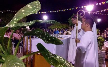 Dom Edivalter celebra a 1ª missa nos festejos de São João Batista em Guadalupe