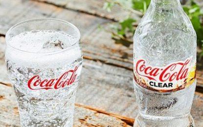 Parece água, mas é a Coca-Cola Clear.