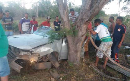 Acidente entre Bertolínia e Manoel Emídio deixa vítima fatal