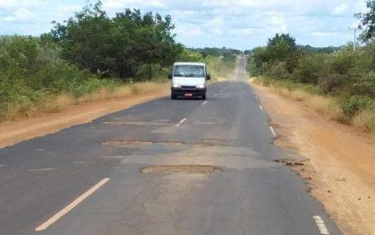 Buracos da estrada que liga Guadalupe a Jerumenha serão tampados com barro por donos de Vans.