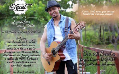 Bertolínia: Espaço D'GUST realizará dois shows com artistas da região