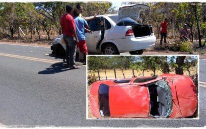 Veículos de Guadalupe e Landri Sales se envolvem em acidente na BR 343