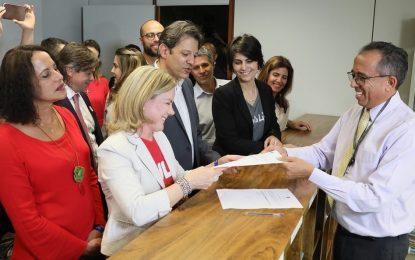 PT registra candidatura de Lula à Presidência do Brasil