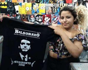 """""""Vendo camisetas de Bolsonaro, mas não voto nele"""""""