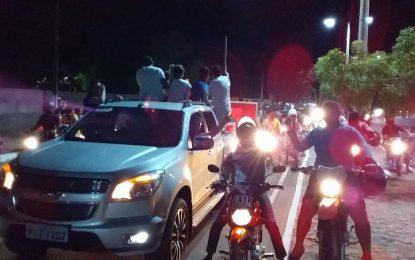 Carreata com apoiadores de Bolsonaro percorrem ruas de Guadalupe
