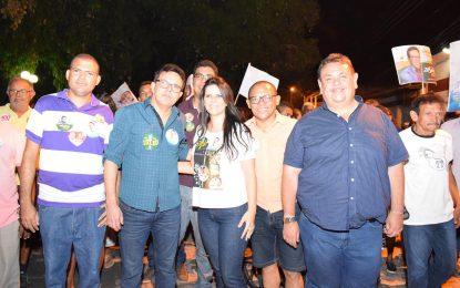 Zé Santana e Silas Freire participam de caminhada e reunião em Jerumenha