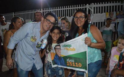Zé Santana participa de caminhada e comício na cidade de Boa Hora