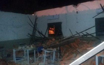 Teto de escola da Rede Estadual desaba na cidade de Jerumenha e por pouco não acaba em tragédia.