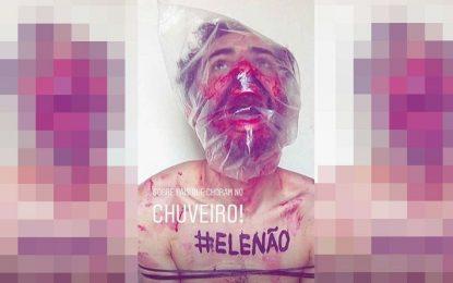 Filho de Bolsonaro posta foto ironizando movimento Elenão