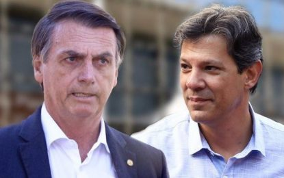 Pesquisa BTG/FSB: Jair Bolsonaro 60% e Fernando Haddad 40%