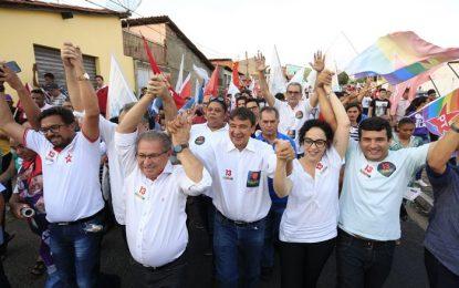 Wellington Dias participa de ato em prol de Haddad em Teresina