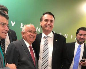Júlio César e Bolsonaro participam juntos de reunião com FPA