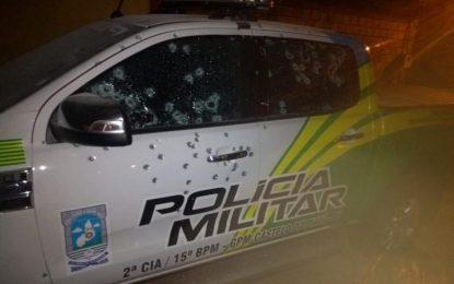Bandidos explodem banco e metralham viatura em Castelo do Piauí