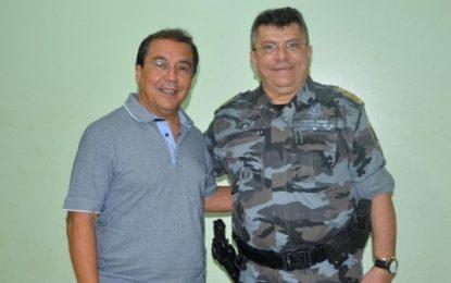 Prefeito de Água Branca e comandante do 18º BPM discutem plano de segurança para o carnaval