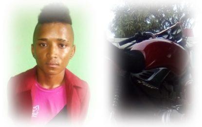 Moto roubada em Porto Alegre do Piauí é recuperada em Marcos Parente