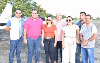 Georgiano Neto visita Guadalupe e comunica a prefeita o início da reforma do Balneário Belém Brasília