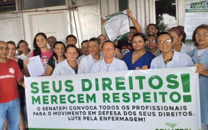 Sindicato dos Enfermeiros decide parar atividades por tempo indeterminado no Piauí