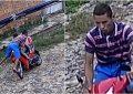 Mãe e filha ficam feridas após ladrão pular na frente de moto em Teresina. Veja o vídeo!