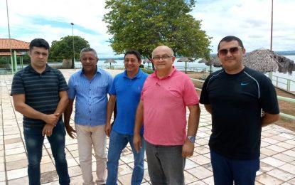 Secretários e vereadores acompanham visita da empresa que irá reformar o Balneário Belém Brasília